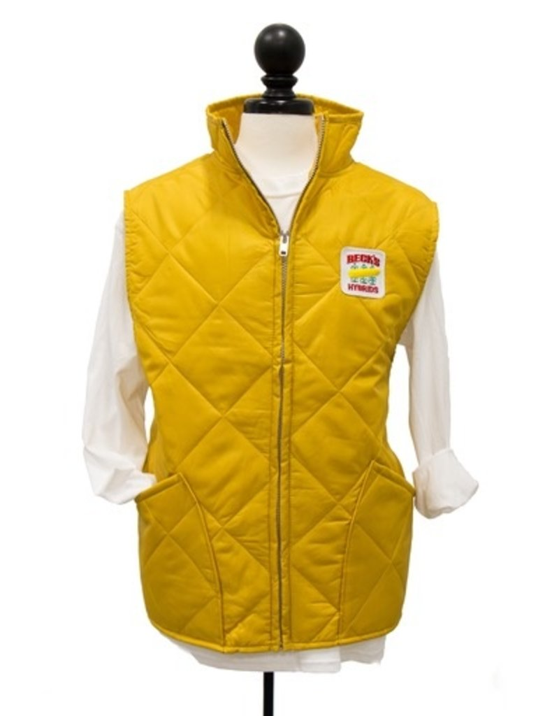 """CUSTOM """"Heritage Collection"""" Men's Quilted Gold Vest"""