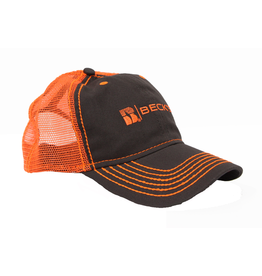 N/A Beck's Charcoal/Neon Mesh Hat with 1937 on back