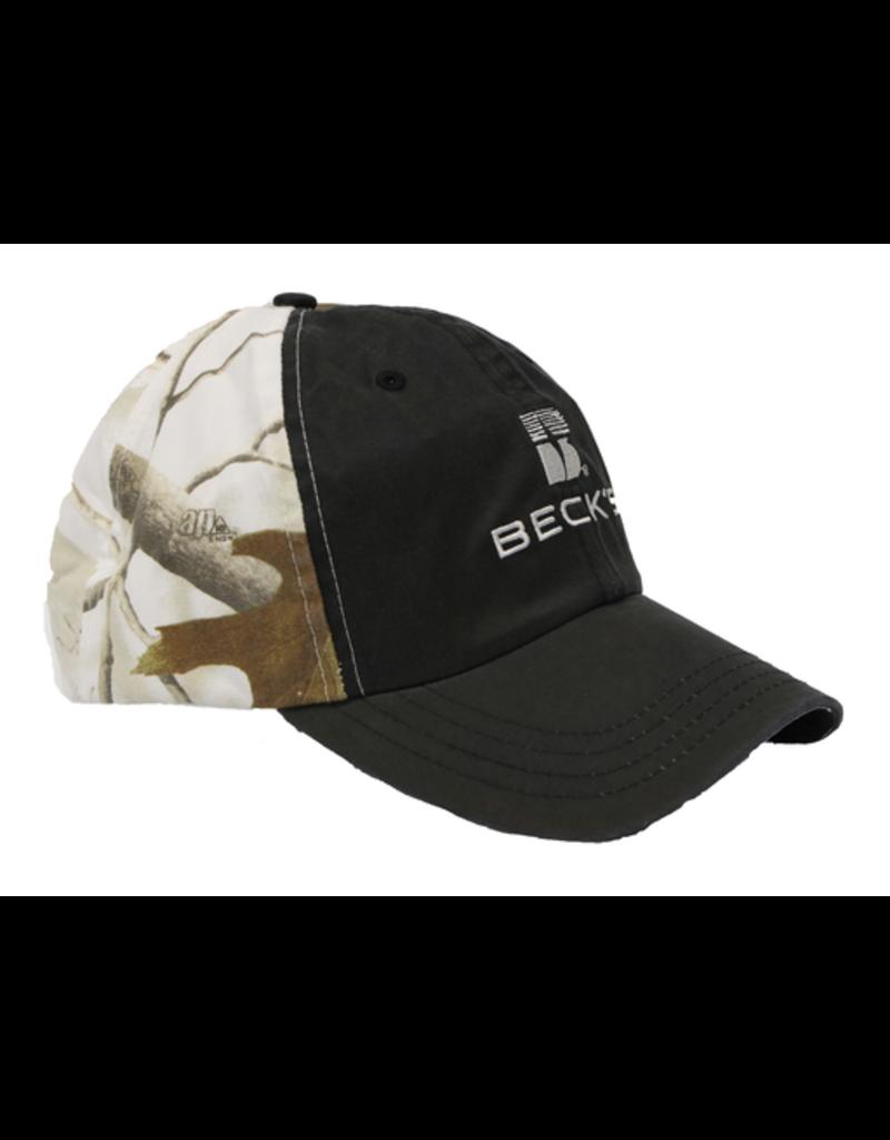 Real Tree Beck's Wax Cloth Snow Camo Hat