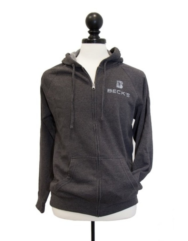 Independent Trading 01063 Raglan Blended Hooded Full-Zip Sweatshirt