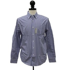 Vantage Men's Easy-Care Gingham Check Shirt - Patch Logo