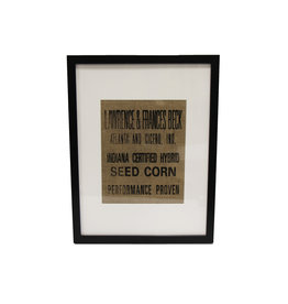 N/A Framed Burlap Decor