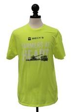 Gildan Neon Yellow Farmers at Heart T-Shirt
