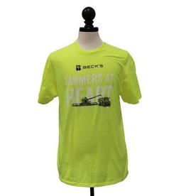 Gildan Neon Yellow Farmers at Heart T-Shirt