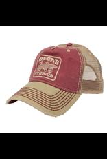 Contrast Stitch Mesh Hat