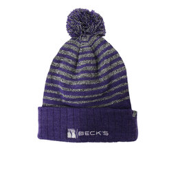 Top of the World Stripe Pom Beanie