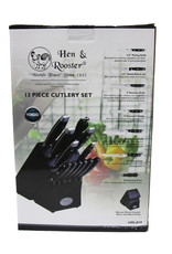 Hen & Rooster Knife Block Set