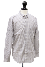 Vantage Men's Easy-Care Gingham Check Shirt - Sleeve Logo