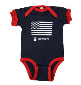Rabbit Skins Infant Flag Onesie