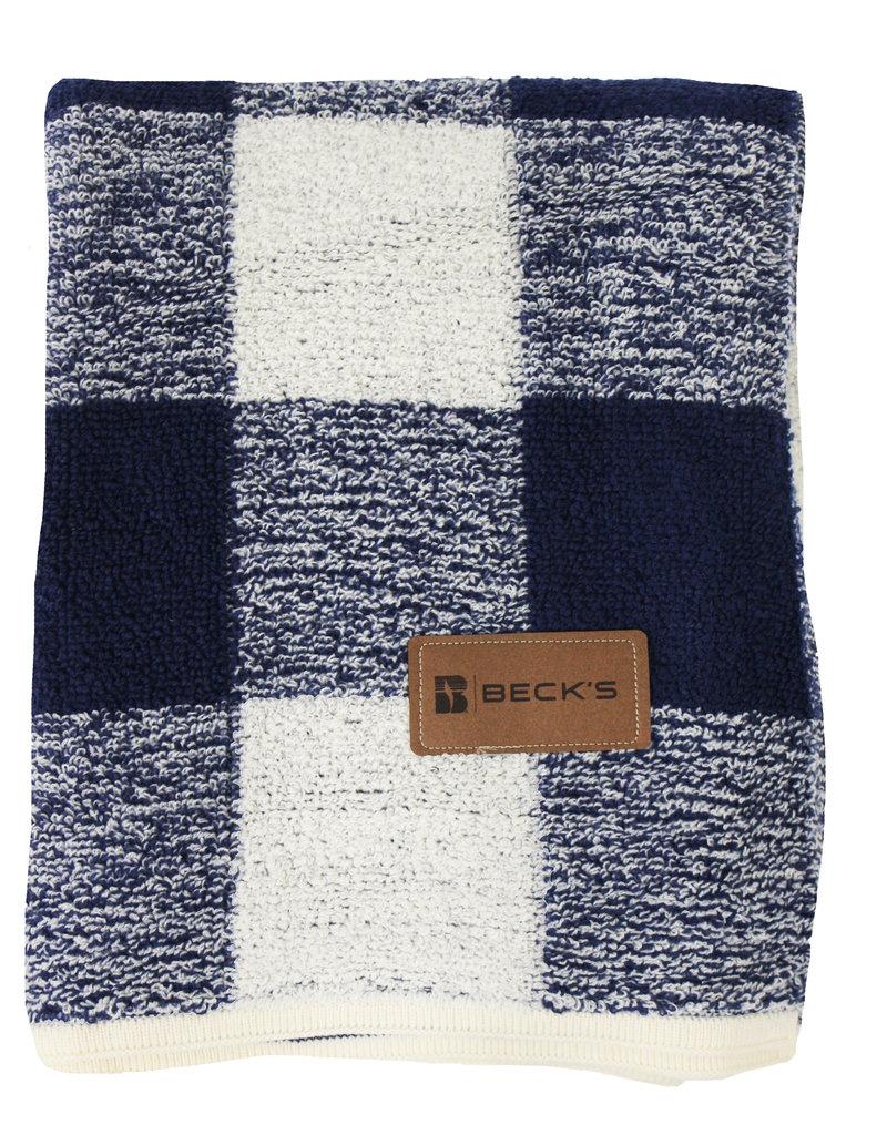 Blue Plaid Berber Blanket