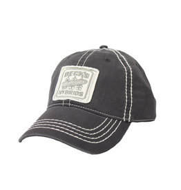 Gray Contrast Stitch Vintage Hat