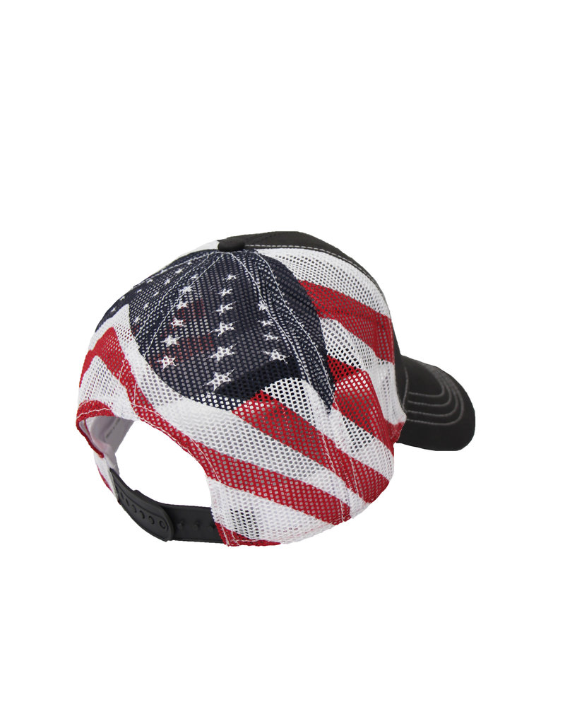 Fresh Concepts Gray American Flag Mesh Hat