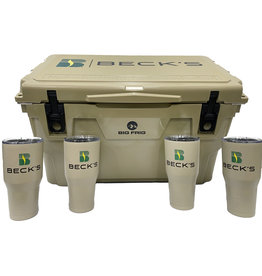 Big  Frig 03287 Big Frig Bundle - Sand 45 Quart Cooler + 4 Tumblers