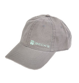 03406 Women's Gray Unstructured Twill Hat