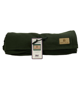 MV Sport 03391 Sweatshirt Blanket w/ leather patch Forest