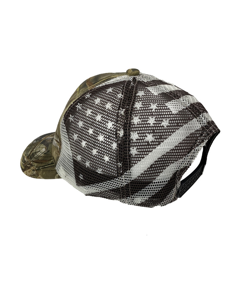 03230 Camo Flag Snapback Hat