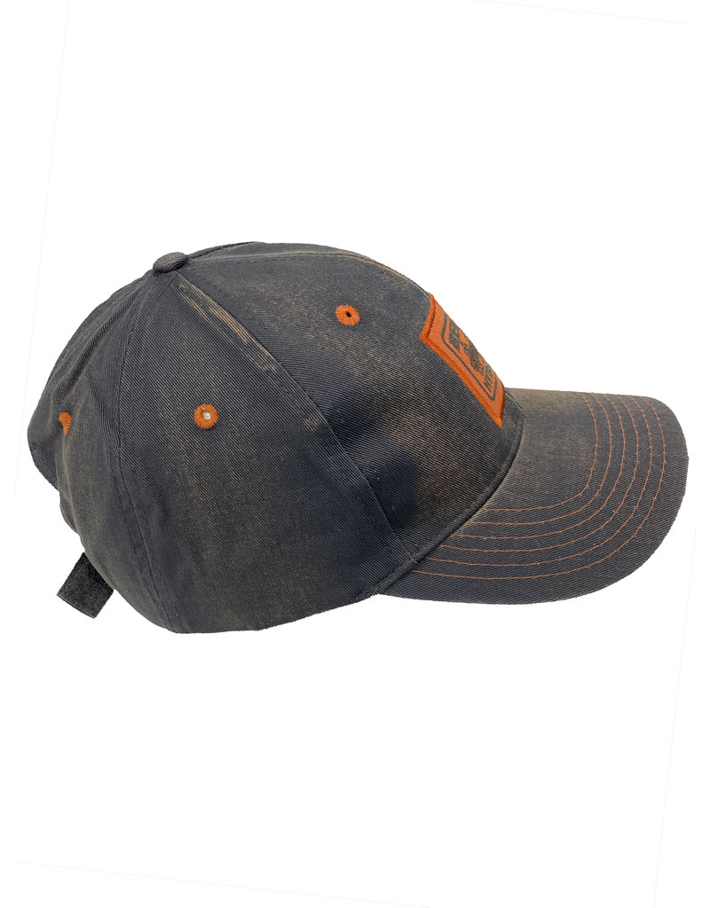 03231 Navy/Orange Distressed Patch Hat