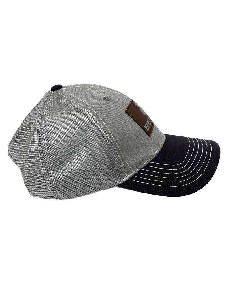 Fresh Concepts 03259 Gray Marle Leather Patch Snapback Hat
