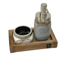 03133 Mason Jar Soap Dispenser & Tray