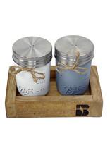 03132 Mason Jar Salt & Pepper Shakers