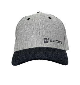 03261 Structured 6 Panel Twill Dark Gray Hat