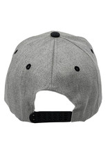 03261 Structured 6 Panel Twill Dark Gray Hat