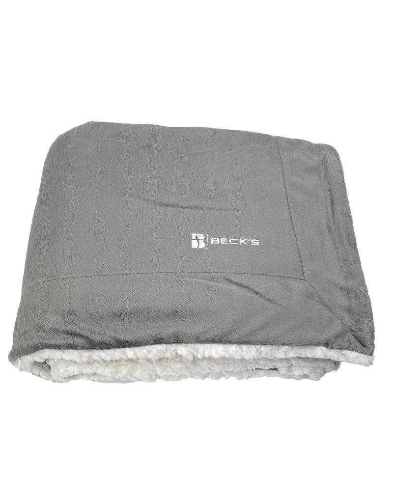 03398 Mink Sherpa Blanket - Grey