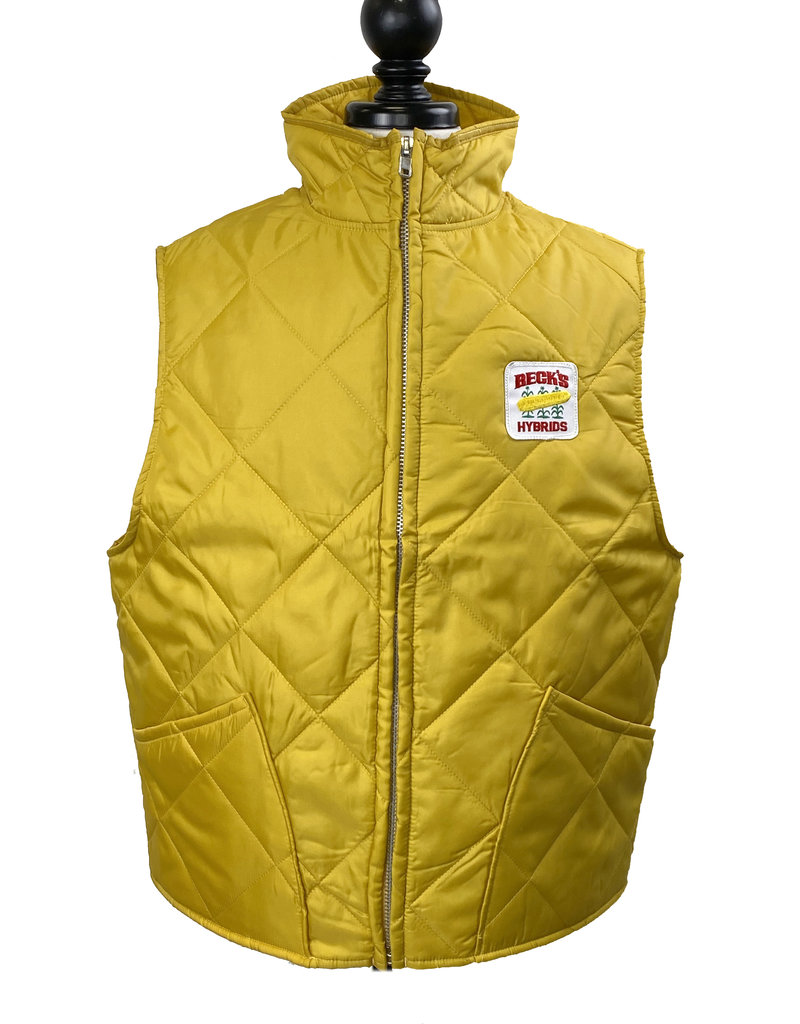 CUSTOM 01647 Heritage Collection Mens Gold Quilted Vest