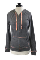 enza 03448 Enza Contrast Stitch Full Zip