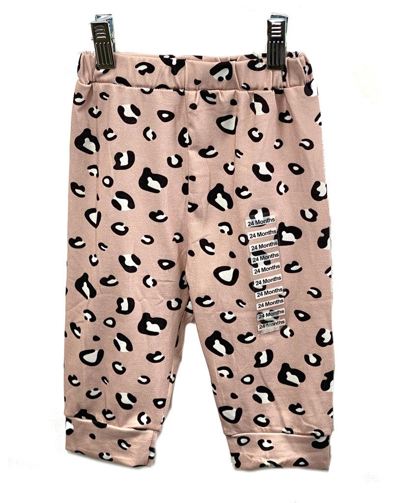 03479 Pink Leopard Hoodie Set