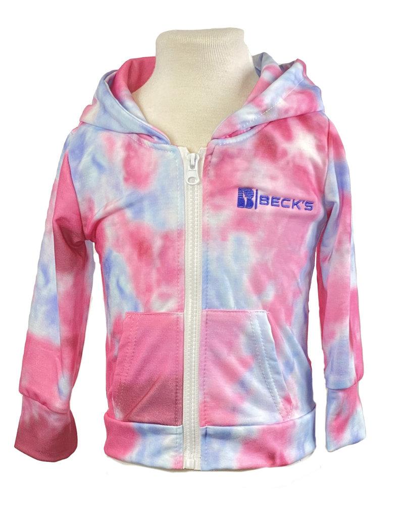 03480 Pink/Blue Tie Dye Hoodie