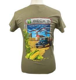 Gildan 03301 Truck Farm Scene T-Shirt