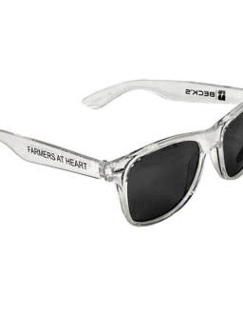 "03423 Mirrored Silver Lens ""Farmers @ Heart Sunglasses"