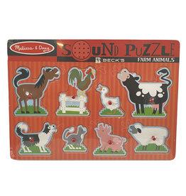 Melissa & Doug 03492 Melissa & Doug Farm Animal Sound Puzzle