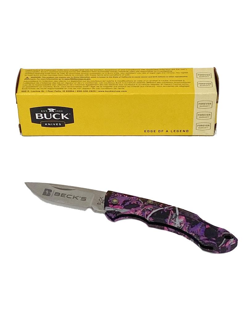 Buck 03351 Buck Nano Pink Camo