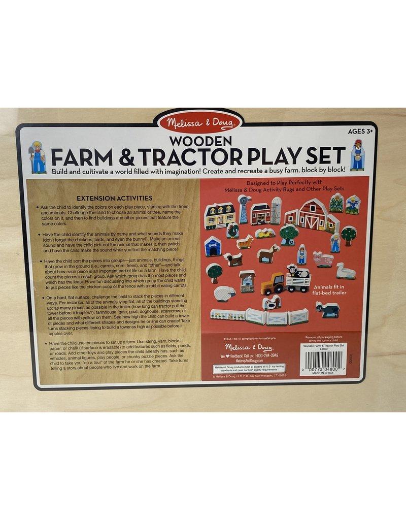 Melissa & Doug 01461 Melissa & Doug Wooden Farm & Tractor Playset