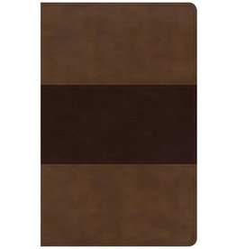 Holman Large Print Personal Size Reference Bible Saddle Brown Leathertouch