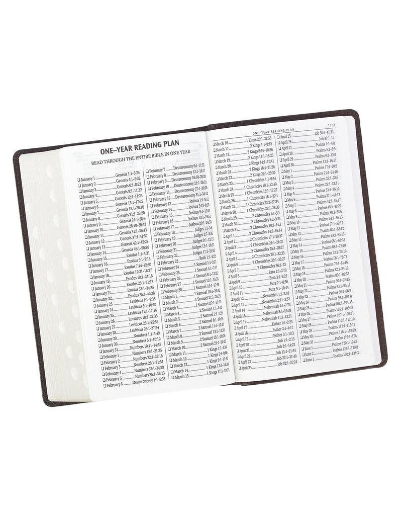 Giant Print KJV Holy Bible in Dark Brown Leather