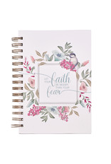 Let Your Faith Be Bigger Than Your Fear Large Hardcover Wirebound Journal