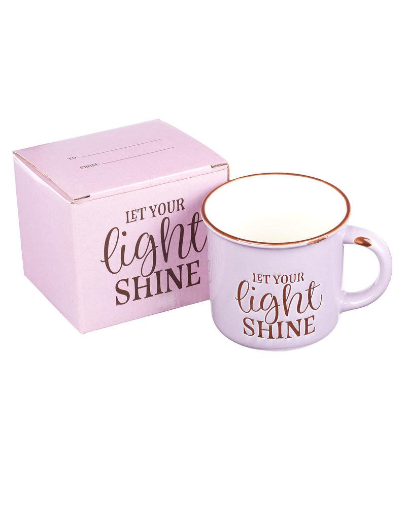 Let Your Light Shine - Lavender Camp Style Coffee Mug