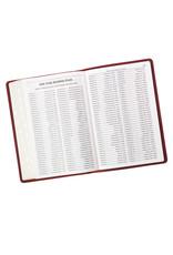 Premium Leather Burgundy KJV Bible Thinline Large Print