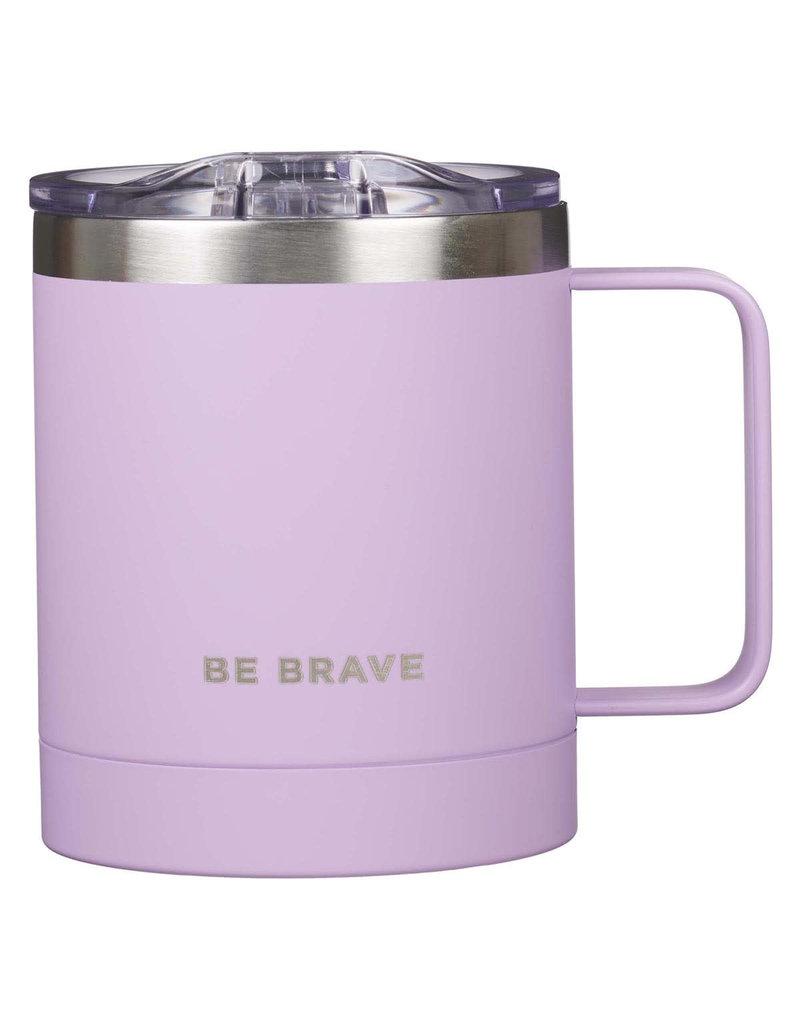 Be Brave Stainless Steel Camp Mug in Lavender