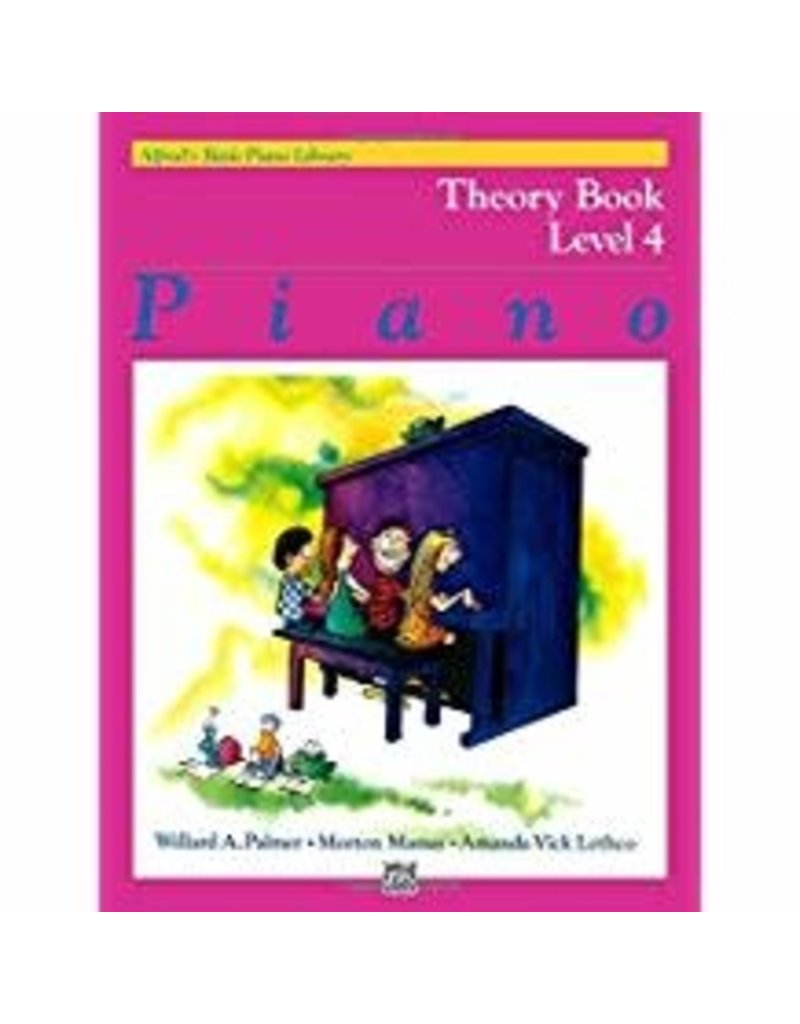 Theory Book Level 4 Alfred's Basic Piano Library