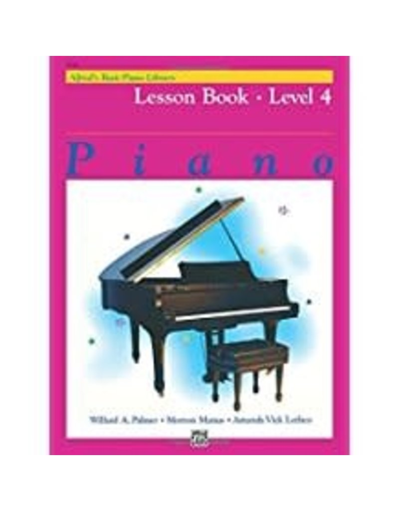 Lesson Book Level 4 Alfred's Basic Piano Library