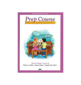 Prep course For the Young Beginner Theory Book Level D Alfred's Basic Piano Library