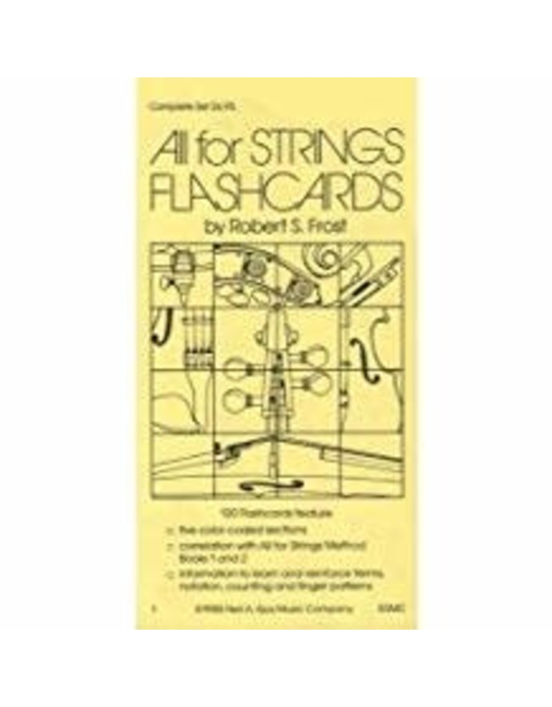 All for Strings Flash Cards