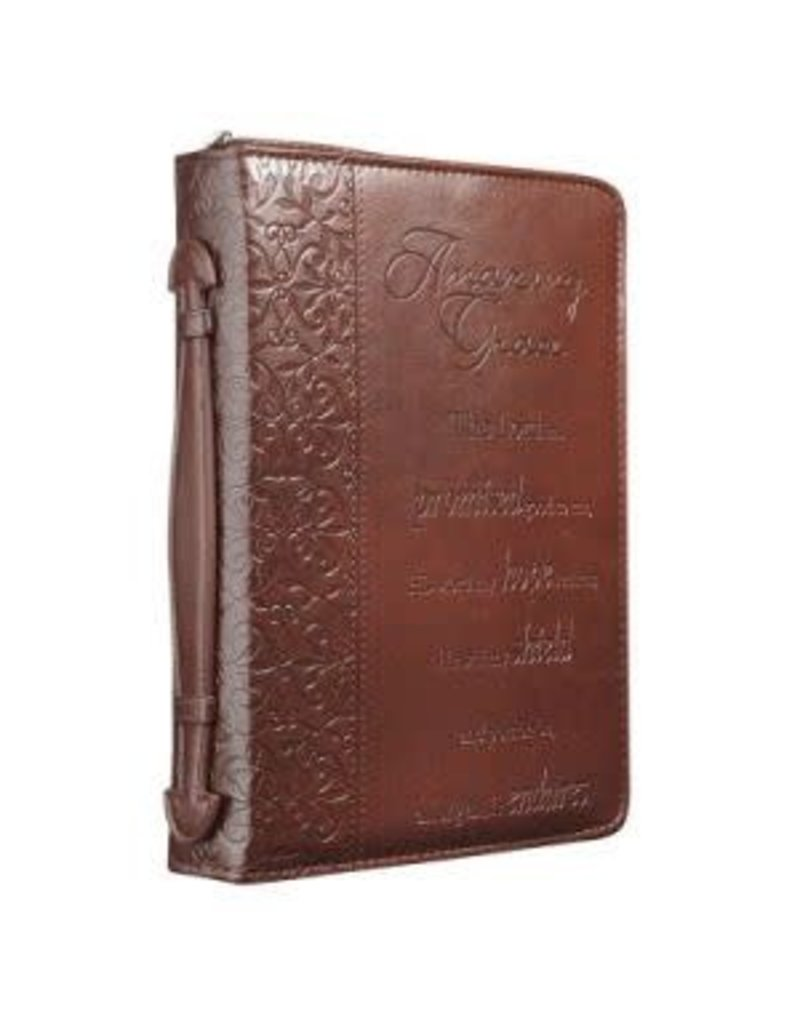 Bible Case Amazing Grace Brown Medium