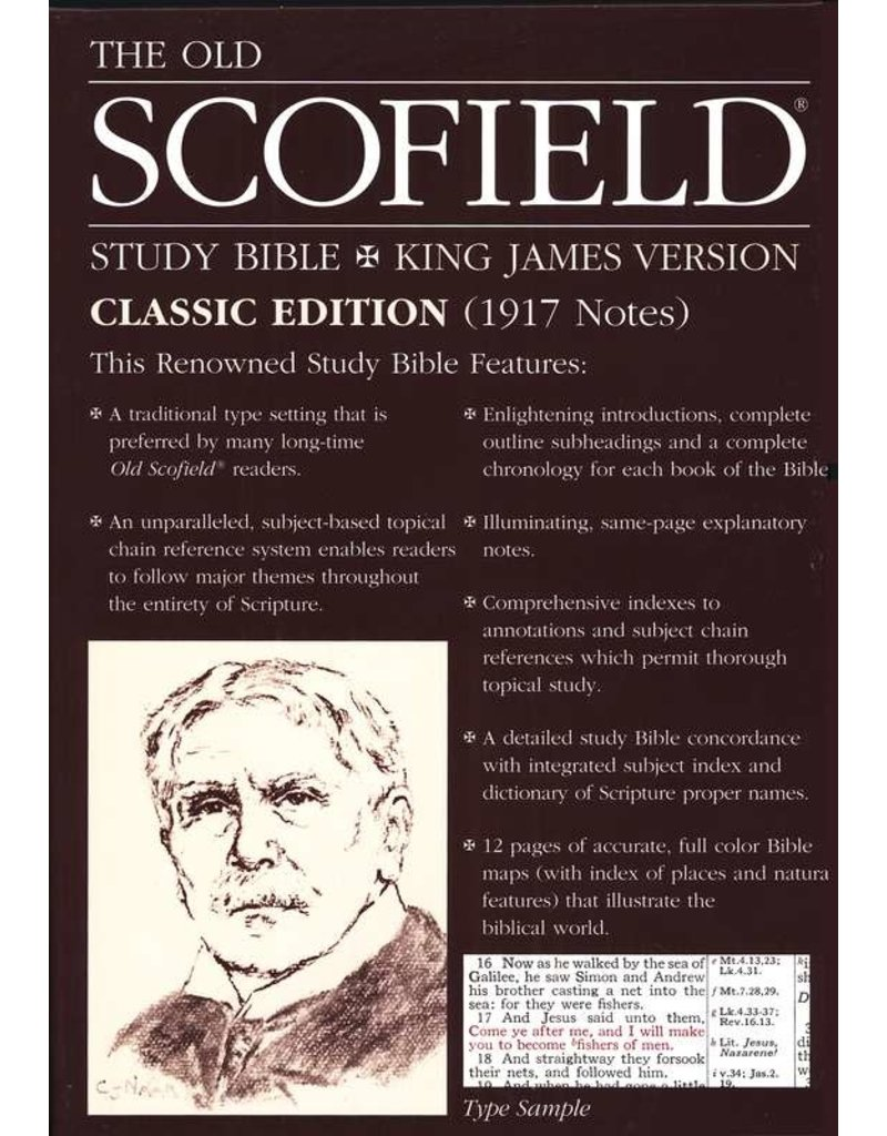 Old Scofield Study Bible, Navy Bonded Leather, Thumb-Indexed, Classic Edition