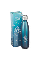 Be Still and Know Stainless Steel Water Bottle Blue
