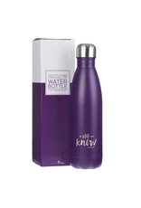 Be Still and Know Water Bottle Purple